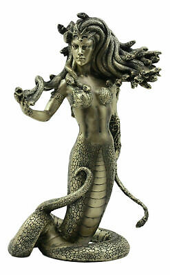 "8"" Tall Greek Medusa Statue Luring Gorgon's Gaze Figurine Resin Collectible"