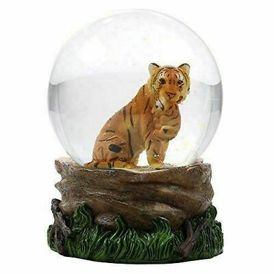 Tiger Holding Cub Water Globe Figurine Snow Globe Jungle Friends Collection