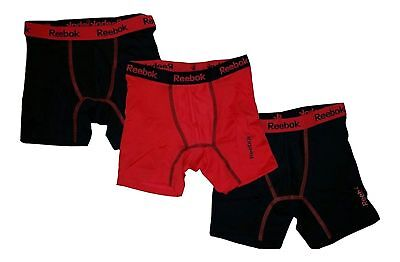 Reebok Boys 3 Pack Performance Boxer Briefs Small-Large Choose Color NEW