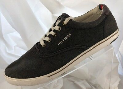 f5719e49 Tommy Hilfiger Shoes Deck Boat Sneaker Canvas Casual Gray TMRAVE Size 11.5  Grey