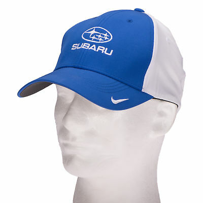 OEM Subaru Gear Nike Golf Cap Moisture Wicking Royal Blue White Hook & Loop NEW