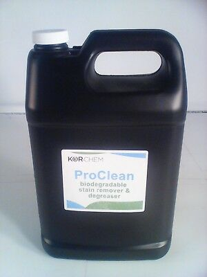 Kor-Chem ProClean  -  Stain Remover & Degreaser for Textile  - one gallon bottle