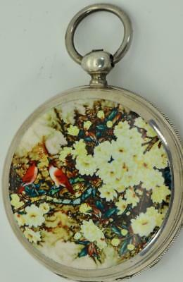 UNIQUE antique Chinese Qing Dynasty silver&enamel pocket watch by Cooper c1850