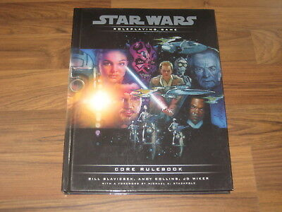 Star Wars Core Rulebook Hardcover 2000 Wizards of the Coast d20