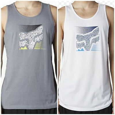 Fox Racing Home Bound Tee Tank Top - Grey OR White - Various Sizes