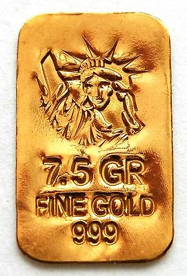 GOLD APPROX 1/2 GRAM (24K PURE GOLD BULLION BAR 999 FINE PURE GOLD g30