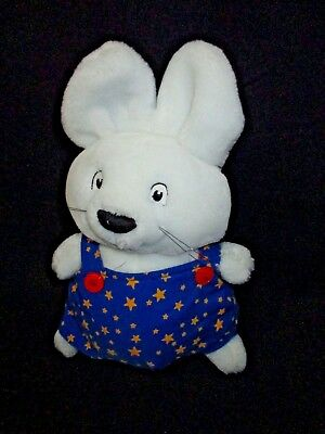 "Eden 1997 Max & Ruby 9"" Brother MAX Stuffed PLUSH Max in Stars Jumper GOOD PIECE"