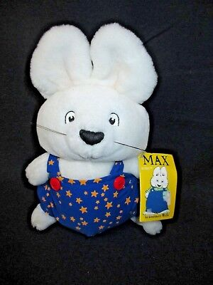 "WITH TAGS Eden 1997 Max & Ruby 9"" Brother MAX Stuffed PLUSH Max in Stars Jumper"