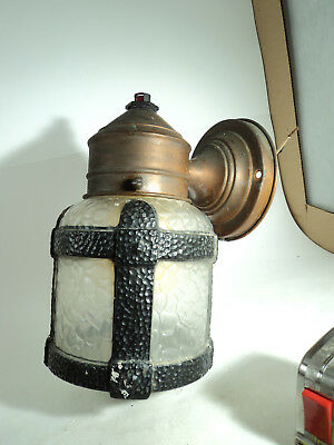Neat Old Porch light sconce hammered finish arts crafts style lamp