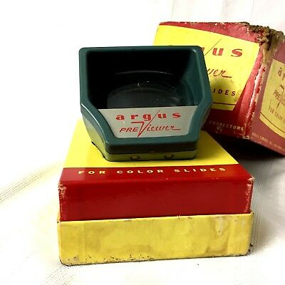 Vintage Argus Previewer For Color Slides In Box Used
