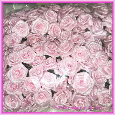144 x Ribbon Roses - Various Colours -Ideal for Invitations and Crafts