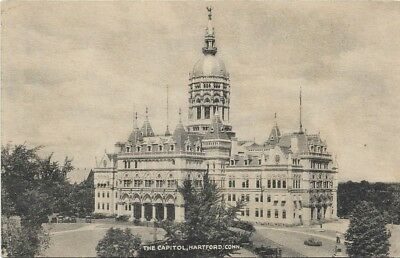 Postcard The Capitol, Hartford, Connecticut Vintage Black And White