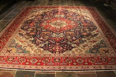 TOP QUALITY GEOMETRIC DESIGN TABRIZ PERSIAN RUG CARPET NATURAL DYES 400x300