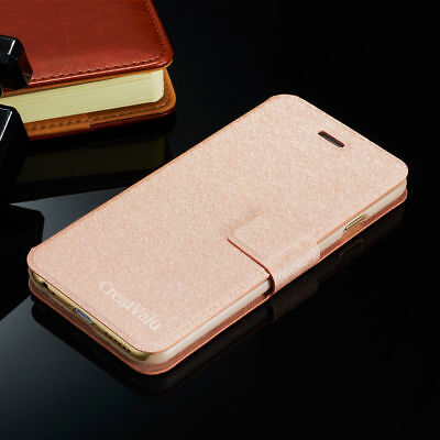 Slim Genuine PU Leather Flip Case Wallet Cover for Samsung Galaxy Note 3 Note 4