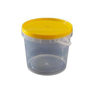 1 Kilo Square Yellow Plastic Jar And Lid Honey Pail 100 Units High Grade Food Pl