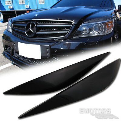 MERCEDES BENZ W204 C-Class 4D Sedan Eyelids Eyebrows 11 ABS C350 C300 C180 C250