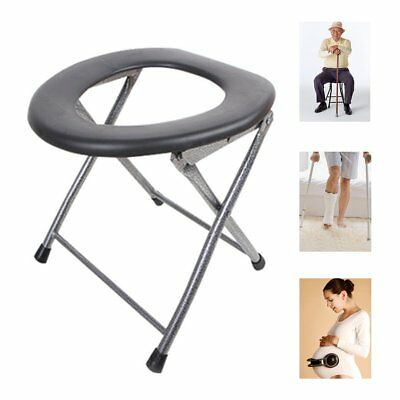 Portable Folding Toilet Chair Camping Travel Festival Park Fishing Outdoors Seat