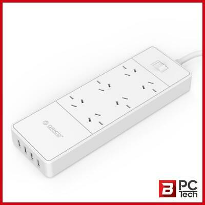 Orico OSD-6A4U 6 AC Outlet & USB Charging Port Surge Protector & Power Board