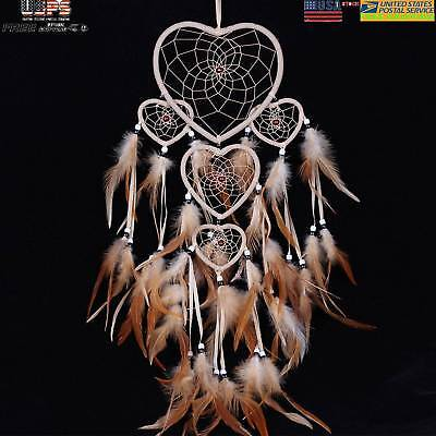Handmade Dream Catcher Feathers Craft Car Wall Hanging Bead Ornament Decoration