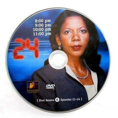 24 First Season 1 Replacement DVD 6 Disc Only + FREE Shipping