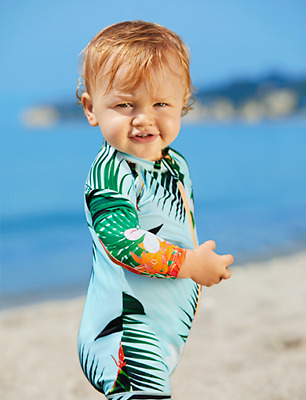 Bonds Baby Swim suit Toddler Aloha Mint Blue size 2 NWT