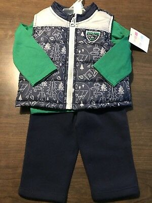 Healthtex Baby Boys Three Piece Set Size 3-6 Months New With Tags