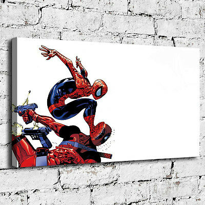 ARTISSIMO MARVEL COMICS Canvas Art Spiderman And Captain