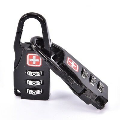 2 x NEW Alloy 3 Dial Safe Code Padlock Combination Travel Suitcase Luggage Lock