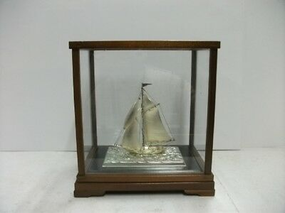 The sailboat of silver950 of Japan. #36g/ 1.27oz. Japanese antique