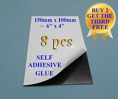 """18 flexible ִmagnet sheet self adhesive one side silicone paper 10X15 cmֳִ ֶ4X6/"""""""