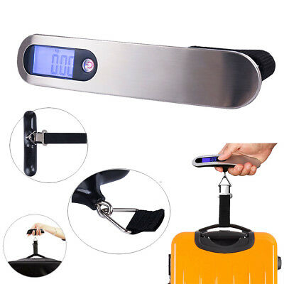 2018 Portable Travel Tare LCD Hanging Digital Suitcase Luggage Scale 110lb 50kg