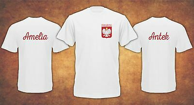 Personalised Polska Poland World Cup Russia 2018 Name on the Back  T-shirt Kids