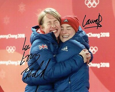 Lizzy YARNOLD & Laura DEAS Autograph Signed Photo 2 AFTAL COA 2018 Gold Winner