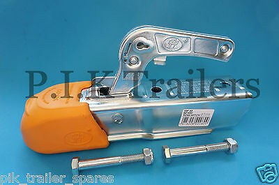 50mm Coupling Hitch with Soft Dock & Mounting Bolts for unbraked trailers    #80