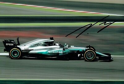 Valtteri BOTTAS SIGNED Mercedes Formula 1 Autograph 12x8 Race Photo AFTAL COA