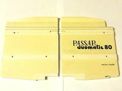Passap Knitting Machine Duomatic 80 E6000 Plastic Side End Plates X2 Front Bed