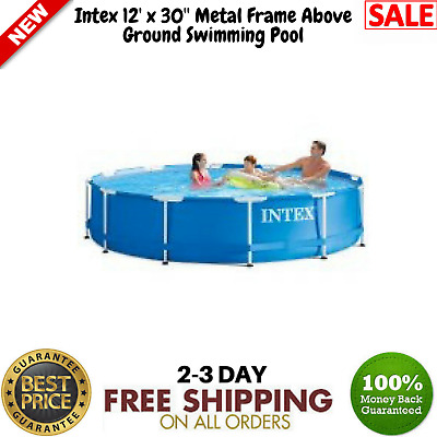 INTEX 12FT X 30in Metal Frame Pool Set with Filter Pump - $139.99 ...