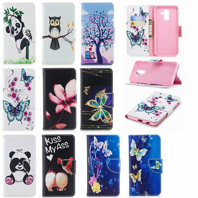 Animal Wallet Case Flip PU Leather Stand Cover Slot For 2018 New Mobile Phones
