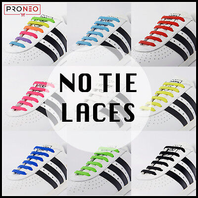 Elastic No Tie Shoe Laces Silicone Shoelaces For Adults Kids BUY 2, GET 1 FREE