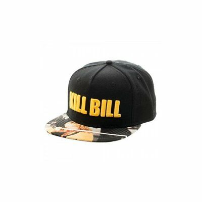 a13b5606b79 Bioworld Miramax Kill Bill Embroidered Logo Sublimated Flatbill Snapback  Cap Hat