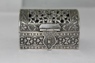 Traditional Handmade, Alloyed SILVER, Small Trinket Box, Hand Engraved Designs