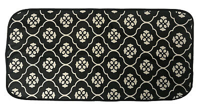 Black Flower Design Laminated Waterproof Foldable Baby Nappy Changing Mat