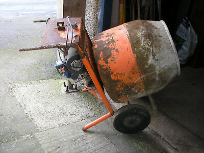 Mains electric Belle 150 Mini concrete or cement mixer with stand