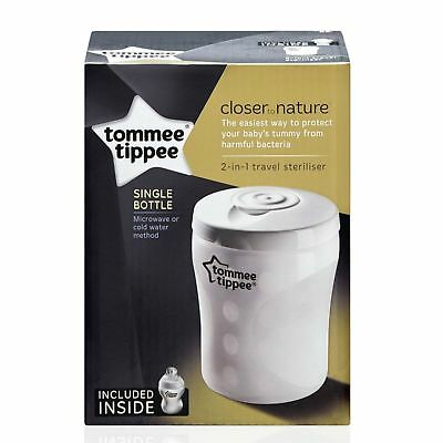 Tommee Tippee Closer to Nature 2 in 1 Travel Steriliser, Microwave or Cold water