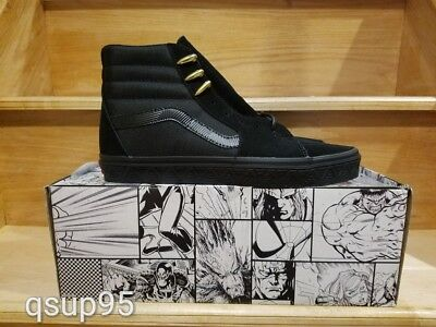 37beeca37abf Vans Marvel Limited Edition Sk8 Hi Black Panther FA Supreme Syndicate Size 4 -13