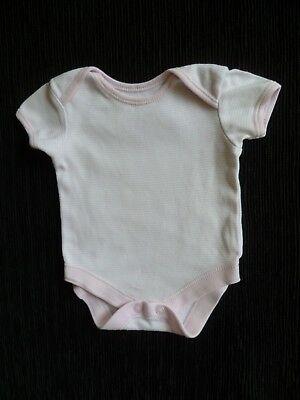Baby clothes GIRL premature/tiny<6lbs/2.7kg pink/white stripe bodysuit SEE SHOP!