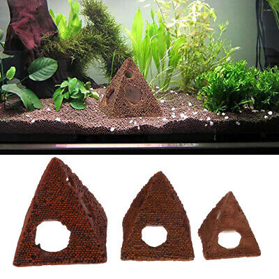 Fish Reptile Habitat Vivarium Ornament Lizard Snake Hide Tower Aqua DIY Decor