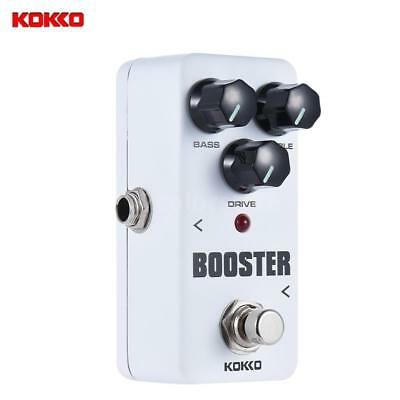KOKKO Booster Pedal Portable 2-Band EQ Guitar Effect Pedal True bypass New Z9I8