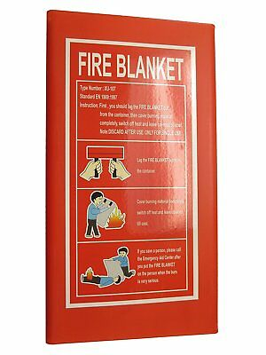 "Fiberglass FIRE BLANKET Large. Emergency Survival Flame Protection 47x47"". DEAL!"