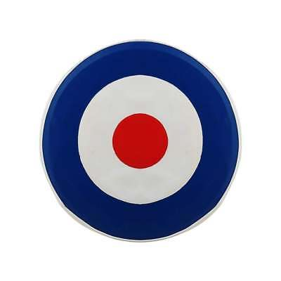 "VESPA/LAMBRETTA 10"" Spare Wheel Cover MOD Target Red/White/Blue"